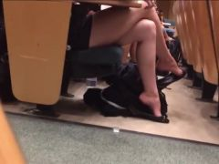 College college girl Shoeplay