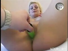 Double Penetration With Double Dildos